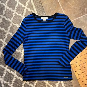 MICHAEL KORS  long sleeve stripped top.